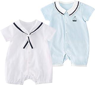 Baby Boys Girls 2-Pack Short Sleeve Romper Cotton Summer...