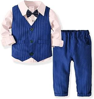 Gatti Kids Suits Tuxedo Formal Suit Vest 4pcs Outfit Set Tuxedo Formal Suits Set Shirt +Waistcoat+Pants with Bowtie
