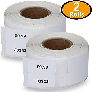 2 Rolls Dymo 30333 Compatible 1/2