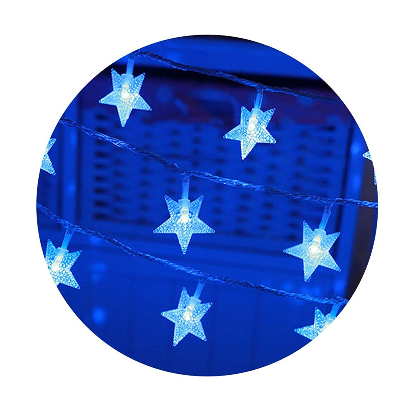 権限消防士侵略ハクチョウ(hakucho)5M 50球 電池式防水LED 星 LEDイルミネーションライト 結婚式、ホームパーティー お誕生日パーティー クリスマスなどに最適 電飾 (ブルー)