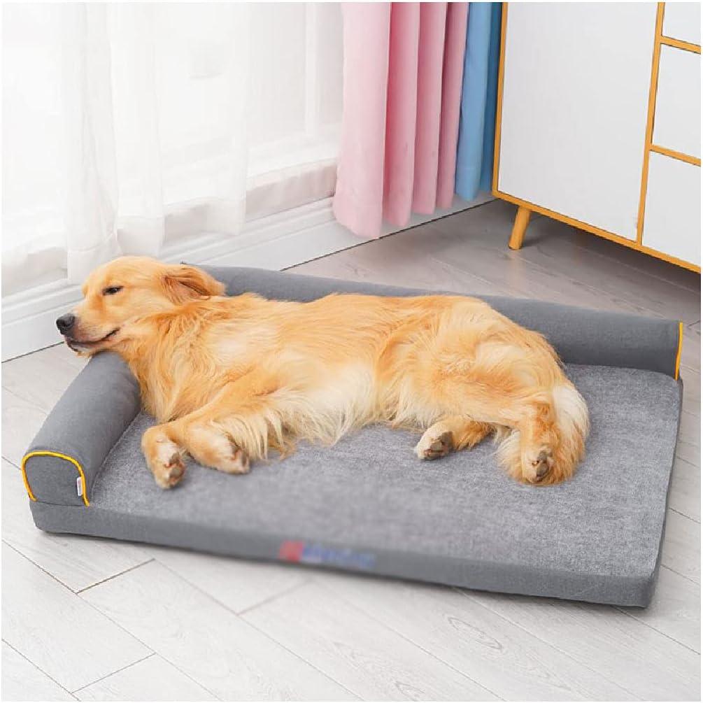 SHENGYAO Alfombrilla de Almohada para Cama para Perros y Gatos, colchón ortopédico para Perros, extraíble Lavable para Mascotas, cómodas Camas Anti-ansiedad para Dormir Mejor,Grey-100cm