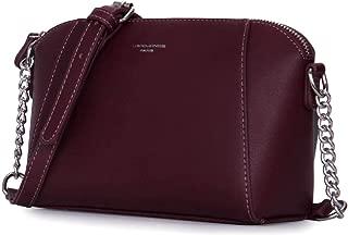 DAVIDJONES women handbag pu leather female crossbody bag small autumn chain lady shoulder bag girl winter brand messenger bag