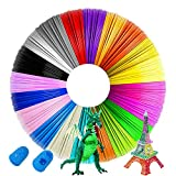 3D Pen / 3D Printer Filament,1.75mm PLA Filament Pack of 20 Colors, Each Color 16.4 Feet Total 328 Feet,No Smells Filament for Most 3D Pen and 3D Printer