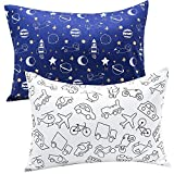 UOMNY Kids Toddler Pillowcases 2 Pack 100% Cotton Pillow Cover Pillowslip Case Fits Pillows sizesd 12x16 for Kids Bedding Pillow Cover Baby Pillow Cases Kids' Pillowcases Car