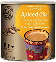 Big Train Carb Conscious Drink Mix Spiced Chai 2 Lb (1 Count) Low Carb Powdered Instant Chai Tea Latte Mix, Spiced Black Tea with Milk, For Home, Café, Coffee Shop, Restaurant Use