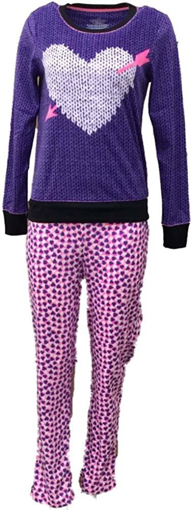 Celestial Dreams Womens Purple Heart Set Pajama Fleece Excellence Pajamas 2021new shipping free shipping