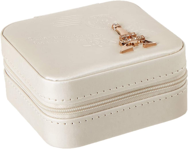 Amazon Com Jewelry Box Diamond Eiffel Tower Mirror Adjustable Lattice Mini Size Comfortable Artificial Leather Soft Material Practical Zipper Home Improvement