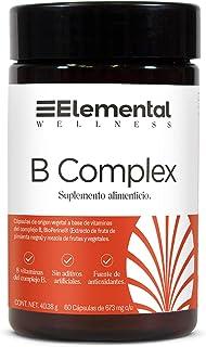 B-Complex | Complejo B 60 cápsulas de 673mg c/u | 40.38g | 8 vitaminas del complejo B | Sin aditivos| Fuente de antioxidan...