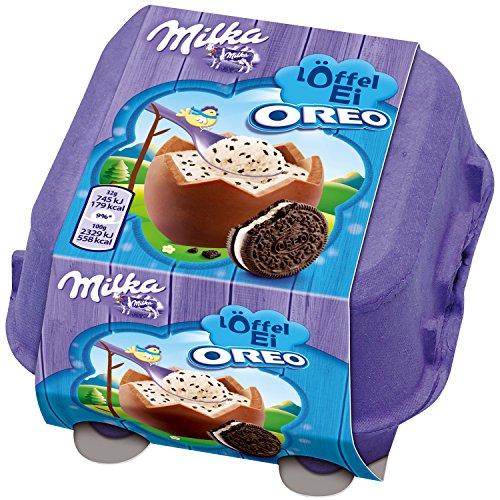 Milka - Loeffel Ei Oreo Chocolate Eggs 128g (Four eggs, 32g each)