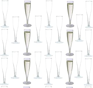 30 pc Clear Plastic Classicware Glass Like Champagne Wedding Parties Toasting Flutes