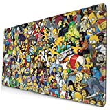 The Simpsons Oversized Gaming Mouse pad Computer Learning Office Writing Desk Desk pad 15.7