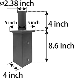 1000LED Tenon Adaptor Bracket for 5 inch Square Pole, Light Pole Adapter for Slip Fit Mounting, Parking Lot Light, LED Shoebox Light