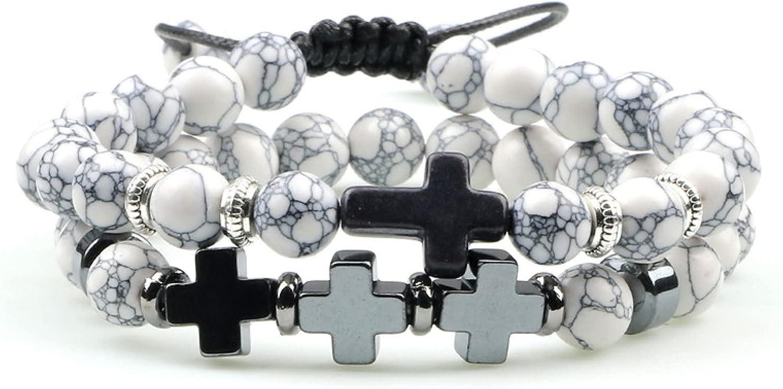 GTHT Men Bracelets Beaded Bracelet Women Bra Set Stone Cheap sale 1 year warranty Cross