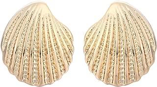Fashion Sea Shell Earrings Seashell Stud Earrings Beach Conch Earrings Nautical Ariel Mermaid Studs Women Jewelry