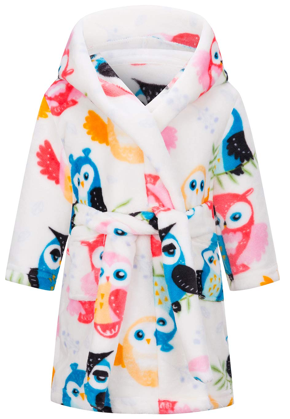 Image of Colorful Owl Robe for Girls and Toddler Girls