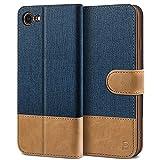BEZ Funda iPhone 7, Carcasa iPhone 8 Libro de Cuero con Tapas y Cartera, Cover Protectora con Ranura para Tarjetas y Billetera, Cierre Magnético
