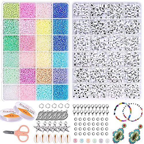 YLXQJIN Cuentas de Colores, 3mm Mini Cuentas y Abalorios Cristal, Perlas de...