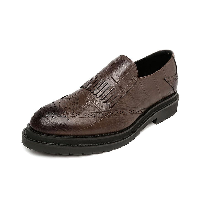 [MUMUWU] シューズ メンズ PUレザー 柔軟 通気性 フォーマル ビジネス クラシック 紳士靴 ビジネスシューズ