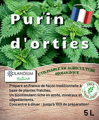 Purin d'orties 5L (existe en 2L ) | 100% naturel liquide et concentré | Made in France | Jusqu'à 100L de produit | Biostimulant écologique pour le traitement bio des légumes, fleurs et fruitiers