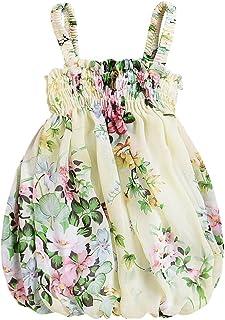 aedb4f8c30ec4 Baby Girls Cute Floral Print Halter Tulle RARA Dress Princess Skirt