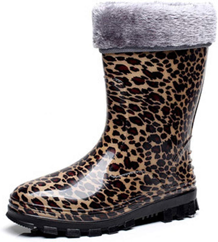 Fancyww Women's Boots Classic Waterproof colorful Rain shoes