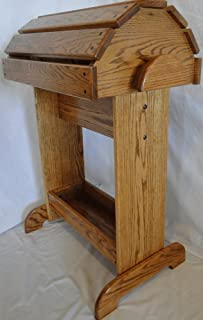 Premium Saddle Stand - Honey Oak