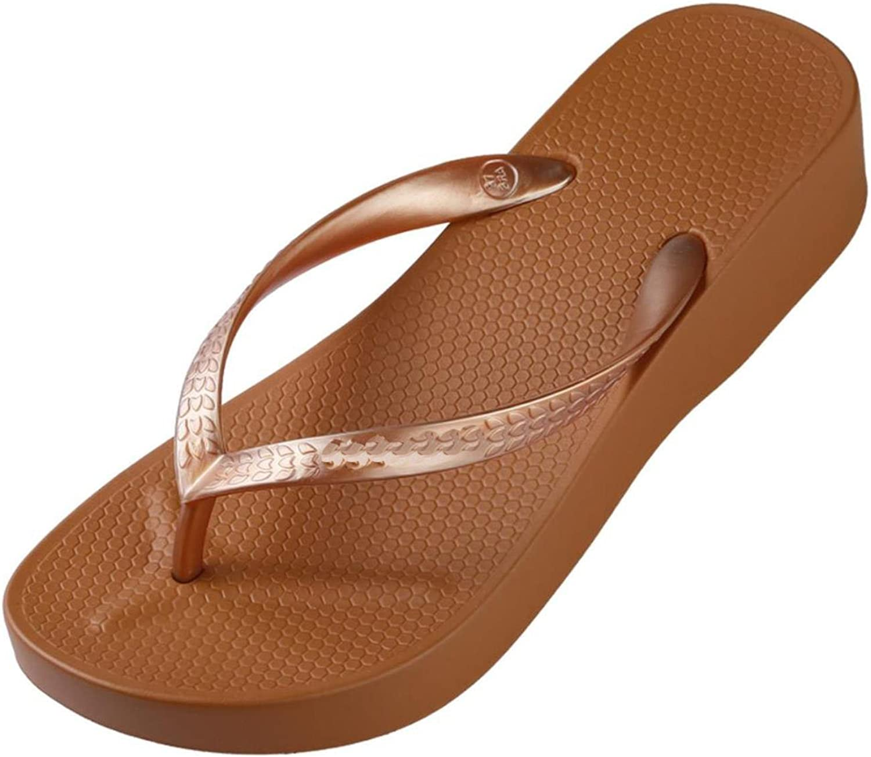 Women High Heel Platform Sandals Beach Slippers Wedge Flip Flops Fashion Slides Summer shoes House Slippers