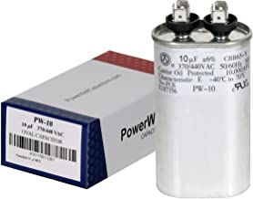 PowerWell 10 uf MFD 370 or 440 VAC Oval Run Capacitor PW-10 for Fan Motor Blower Condenser in Air Handler Straight Cool or...