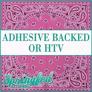 Pink BANDANA Pattern Heat Transfer or Adhesive Vinyl CHOOSE YOUR SIZE! Bandanna