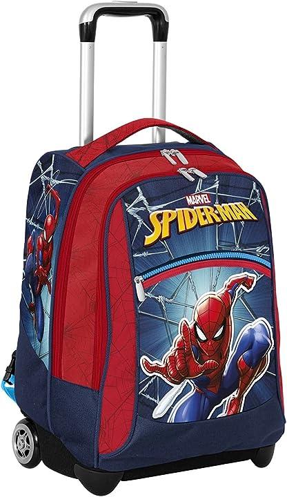Trolley spiderman big rosso e blu scuola e tempo libero trolley seven ? 229002102-550