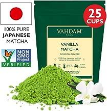 VAHDAM, Vanilla + Matcha Green Tea Powder - Brew Delicious Vanilla Matcha Latte | Powerful SUPERFOODS Blend | Japanese Matcha Powder with 100% Natural Vanilla | 137x Anti-OXIDANTS, 1.76oz (25 Cups)