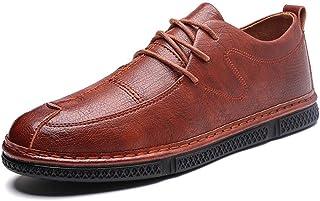 S.Y.M Men Shoes Simple Oxford Shoes For Men Formal Shoes Lace Up Style Microfiber Leather Pure Color