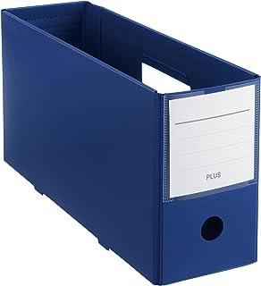 プラス ファイルボックス PPボックスファイル+ ハーフサイズ ネイビー 76-000