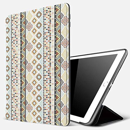 Funda iPad 10.2 Inch 2018/2019,Patrón indígena geométrico Inspirado en la Cultura nativa con una Variedad de Diferentes Formas Decorativo, Multico,Cubierta Trasera Delgada Smart Auto Wake/Sleep