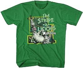 American Classics Madagascar Children's Movie Stripe A Licious Youth Big Boys T-Shirt Tee