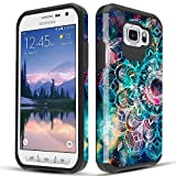 Townshop Galaxy S6 Active Case, Dual Layer Shockproof Hybrid Design Case for Samsung Galaxy S6 Active - Mandala in Galaxy