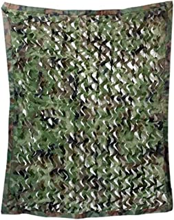 Image of DPPAN Camouflage Netting Military, Sunscreen Nets for Woodland Camping Desert Shooting Hunting Hide Party Decorations,Green_4x6m(13x20ft)