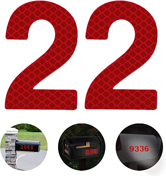 Reflective Mailbox Numbers 2 3 4 Inch Self Stick Stainless Steel Mailbox Number 2 Street Address Reflective Numbers For Mailbox And Residence Signs Red 2 Pcs