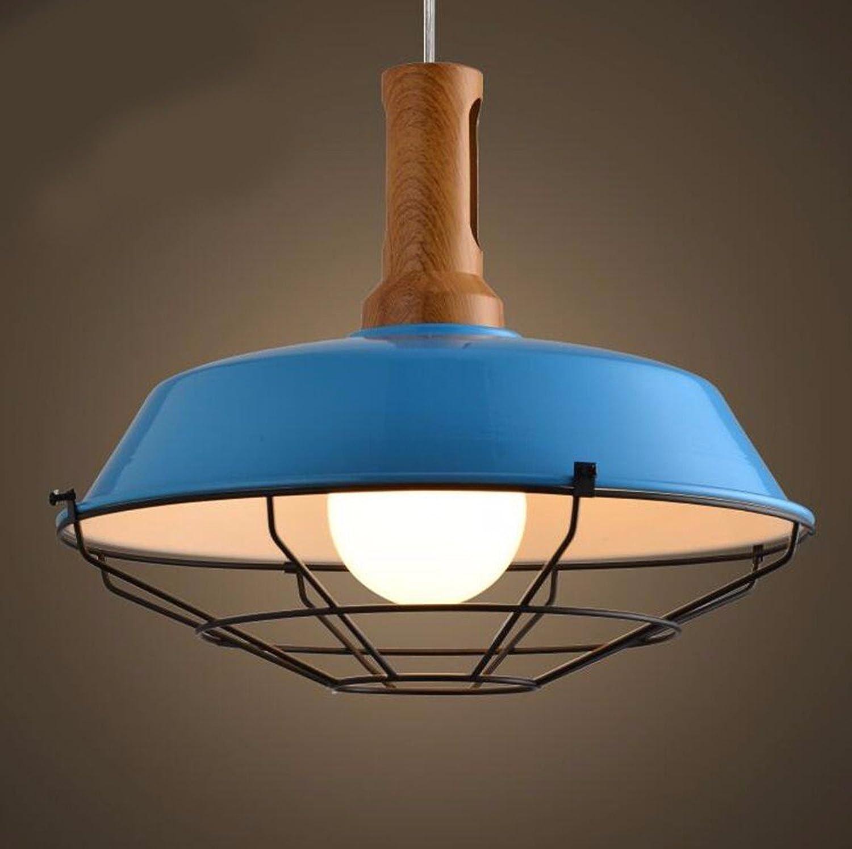 LighSCH Lustres Le minimaliste couvercle Salon La Chambre Loft 26cm Bleu éclairage d'accueil