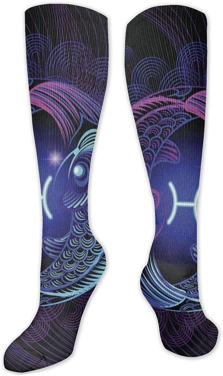 Pisces Knee High Socks Leg Warmer Dresses Long Boot Stockings For Womens Cosplay Daily Wear