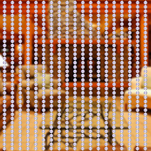 Yosoo - 10-m-Rolle Perlen - DIY, zum Selbermachen - Türvorhang, Perlenvorhang, Moskitonetz, Raumtrenner, Dekoration - für Eingangstür, Innen- und Außentür, Fenster bunt