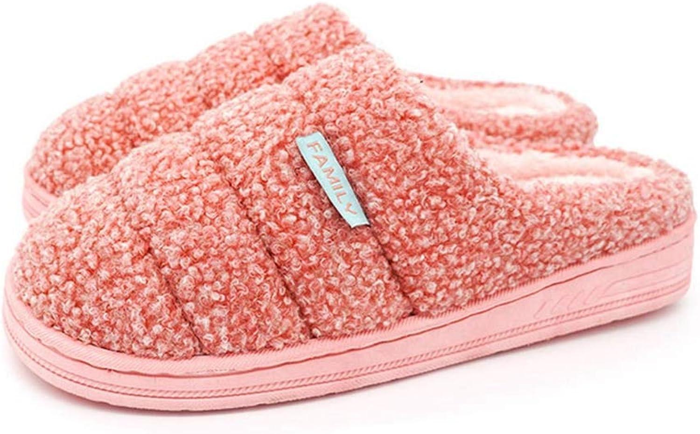 ASO-SLING Women's Warm Fur Home Slippers Casual Soft Flats Floor Slipper Fashion Sheep Velvet Memory Foam Slides