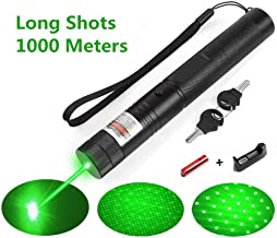 Green Light Pointer High Power Visible Beam with Adjustable Focus for Hunting Hiking