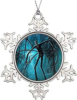 Diuangfoong Xmas Trees Decorated Slenderman Slender Man Make Christmas Snowflake Ornaments