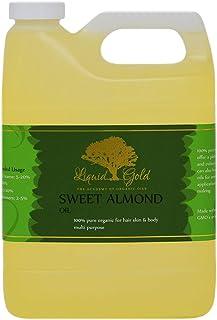 32 Fl.oz Premium Liquid Gold Sweet Almond Oil Pure & Organic Skin Hair Nails Massage Health Care