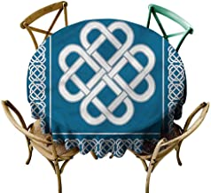 UETECH Outdoors Round Tablecloth Irish,Celtic Love Knot Symbol Printed Tablecloth Diameter 54
