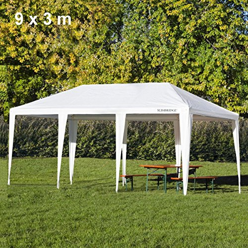 Slimbridge Fontwell Gazebo 9 x 3 m, Blanc