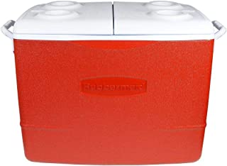 Rubbermaid Plastic Cooler 50 qt. Red