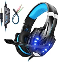 Best Mengshen Gaming Headset for PS4/ Xbox one/Xbox One S/PC/Mac/Laptop/Cell Phone - Gaming Headphone with Mic, LED Light, Bass Surround, Noise Cancelling, Soft Earmuffs, G9000 Blue Review