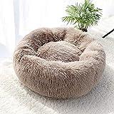 Menghao Pet Dog Bed Warm Fleece Round Dog Kennel House Lungo Peluche Inverno Animali Domestici Letti per Cani per Cani di Taglia Media Gatti Morbidi Cuscini per Divano